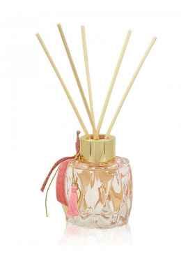 Αρωματικό χώρου σε ροζ απαλό σκαλιστό γυάλινο μπουκαλάκι