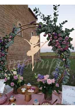 Στολισμός βάπτισης Μπαλαρίνα Λουλούδια
